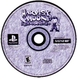 Artwork on the CD for Harvest Moon: Back to Nature on the Sony Playstation.
