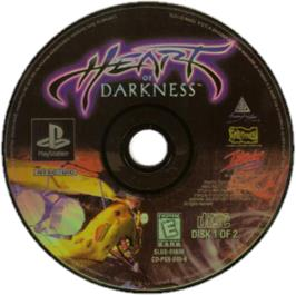 Artwork on the CD for Heart of Darkness on the Sony Playstation.