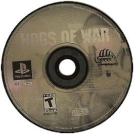 Artwork on the CD for Hogs of War on the Sony Playstation.