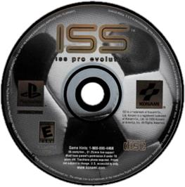 Artwork on the CD for ISS Pro Evolution on the Sony Playstation.