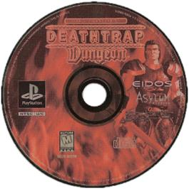 Artwork on the CD for Ian Livingstone's Deathtrap Dungeon on the Sony Playstation.