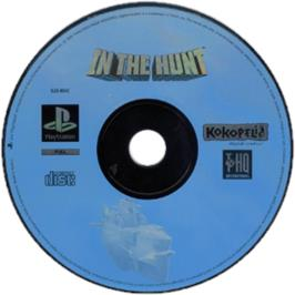 Artwork on the CD for In the Hunt on the Sony Playstation.