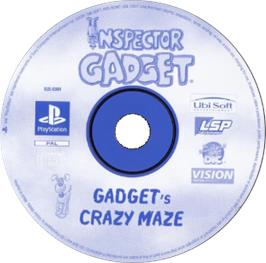 Artwork on the CD for Inspector Gadget: Gadget's Crazy Maze on the Sony Playstation.
