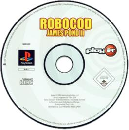 Artwork on the CD for James Pond 2: Codename: RoboCod on the Sony Playstation.
