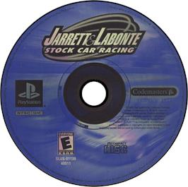 Artwork on the CD for Jarrett and Labonte Stock Car Racing on the Sony Playstation.