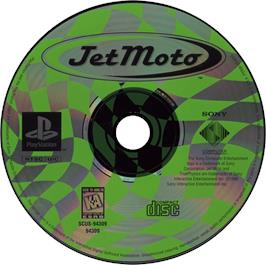 Artwork on the CD for Jet Moto on the Sony Playstation.