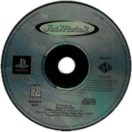 Artwork on the CD for Jet Moto 2 on the Sony Playstation.