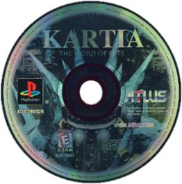 Artwork on the CD for Kartia: The Word of Fate on the Sony Playstation.