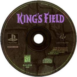 Artwork on the CD for King's Field on the Sony Playstation.