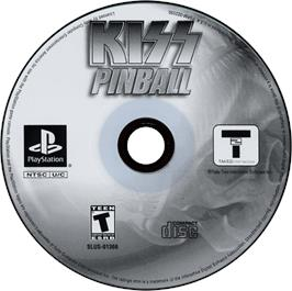 Artwork on the CD for Kiss Pinball on the Sony Playstation.