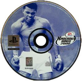 Artwork on the CD for Knockout Kings 2000 on the Sony Playstation.