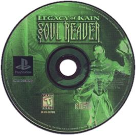 Artwork on the CD for Legacy of Kain: Soul Reaver on the Sony Playstation.