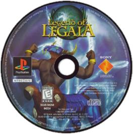 Artwork on the CD for Legend of Legaia on the Sony Playstation.