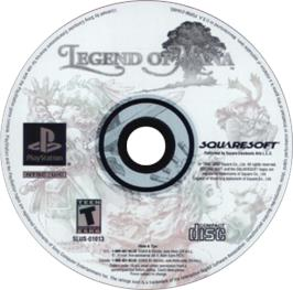 Artwork on the CD for Legend of Mana on the Sony Playstation.