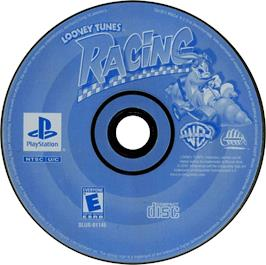 Artwork on the CD for Looney Tunes Racing on the Sony Playstation.