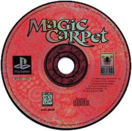 Artwork on the CD for Magic Carpet on the Sony Playstation.