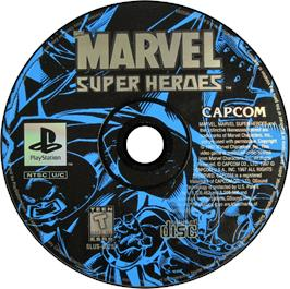 Artwork on the CD for Marvel Super Heroes on the Sony Playstation.