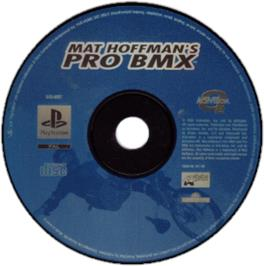 Artwork on the CD for Mat Hoffman's Pro BMX on the Sony Playstation.
