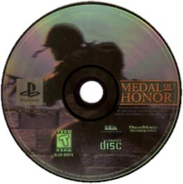 Artwork on the CD for Medal of Honor: Underground on the Sony Playstation.