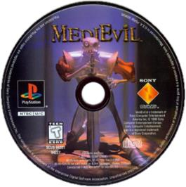 Artwork on the CD for MediEvil on the Sony Playstation.