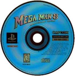 Artwork on the CD for Mega Man 8: Anniversary Edition on the Sony Playstation.