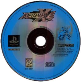 Artwork on the CD for Mega Man X4 on the Sony Playstation.