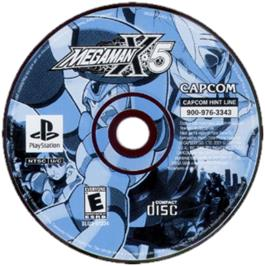 Artwork on the CD for Mega Man X5 on the Sony Playstation.