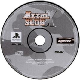 Artwork on the CD for Metal Slug X: Super Vehicle - 001 on the Sony Playstation.