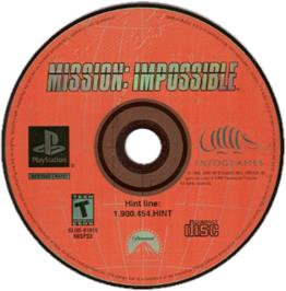 Artwork on the CD for Mission: Impossible on the Sony Playstation.