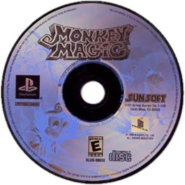 Artwork on the CD for Monkey Magic on the Sony Playstation.