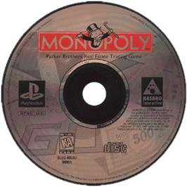 Artwork on the CD for Monopoly on the Sony Playstation.