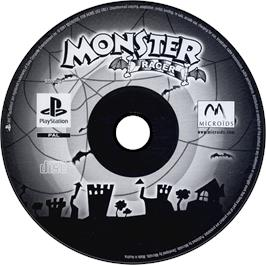 Artwork on the CD for Monster Racer on the Sony Playstation.