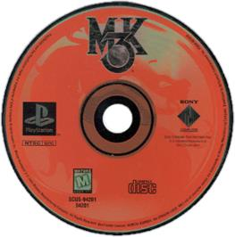 Artwork on the CD for Mortal Kombat 3 on the Sony Playstation.