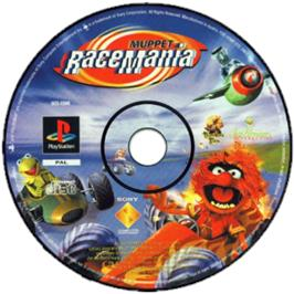 Artwork on the CD for Muppet RaceMania on the Sony Playstation.