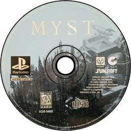 Artwork on the CD for Myst on the Sony Playstation.