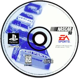 Artwork on the CD for NASCAR 98 on the Sony Playstation.