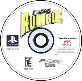 Artwork on the CD for NASCAR Rumble on the Sony Playstation.