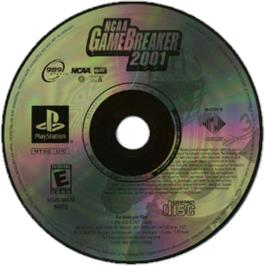 Artwork on the CD for NCAA GameBreaker 2001 on the Sony Playstation.