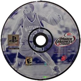Artwork on the CD for NCAA March Madness 2000 on the Sony Playstation.
