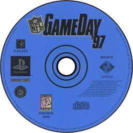 Artwork on the CD for NFL GameDay '97 on the Sony Playstation.