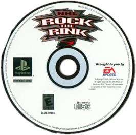 Artwork on the CD for NHL Rock the Rink on the Sony Playstation.