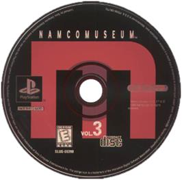 Artwork on the CD for Namco Museum Vol. 3 on the Sony Playstation.