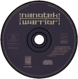 Artwork on the CD for NanoTek Warrior on the Sony Playstation.