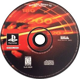 Artwork on the CD for Need for Speed III: Hot Pursuit on the Sony Playstation.