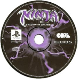 Artwork on the CD for Ninja: Shadow of Darkness on the Sony Playstation.