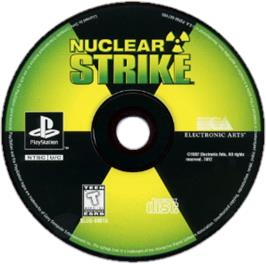 Artwork on the CD for Nuclear Strike on the Sony Playstation.
