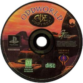 Artwork on the CD for Oddworld: Abe's Oddysee on the Sony Playstation.