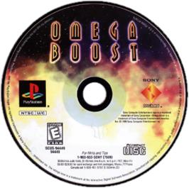 Artwork on the CD for Omega Boost on the Sony Playstation.