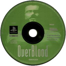 Artwork on the CD for OverBlood on the Sony Playstation.