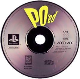 Artwork on the CD for PO'ed on the Sony Playstation.